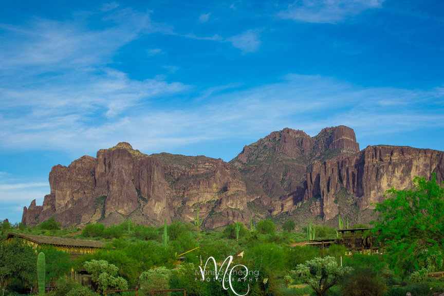 Superstition Mountain and Canyon Lake
