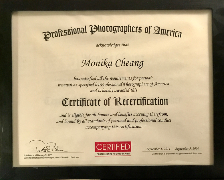 Monika Cheang Photography, LLC. | Certified Professional Photographer